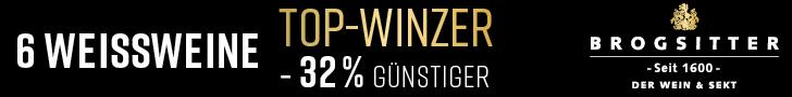 Brogsitter (seit 1600 der Wein & Sekt) - 6 Weissweine - Topwinzer -32% günstiger