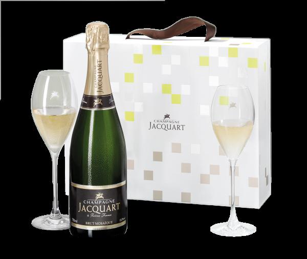 Champagner Jacquart Mosaïque & Original Jacquart Champagner-Gläser