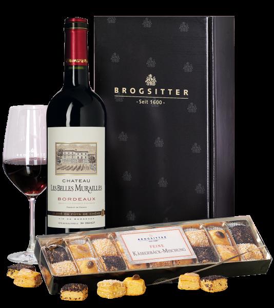 Bordeaux Château & handgefertigtes Käsegebäck