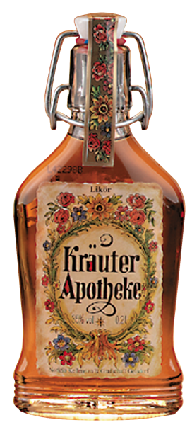Feine Kräuterapotheke mit Bügelflasche