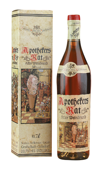 Apothekers Rat - Alter Weinbrand im Geschenkkarton