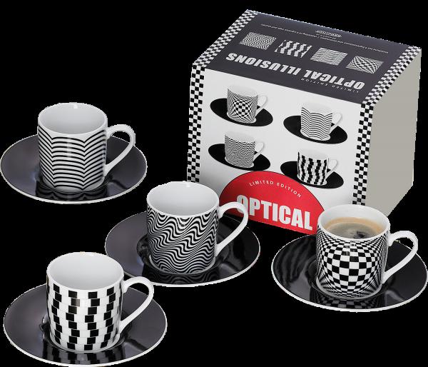 "Espressotassen-Porzellan-Set ""optical Illuisions"" von Könitz"