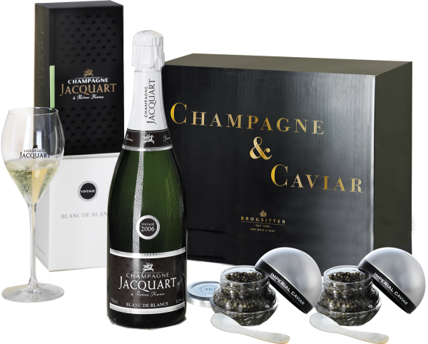 Jacquart Jahrgangs-Champagner & Caviar