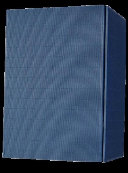 Geschenkkarton Blau für 6 Flaschen